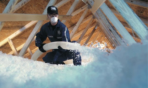 Installing insulation and blown roof Insulation for rental properties and residential tenancies insulation regulations