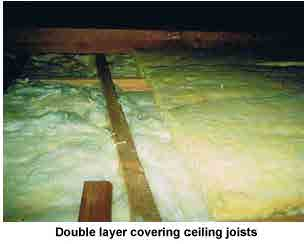 Double layer of insulation